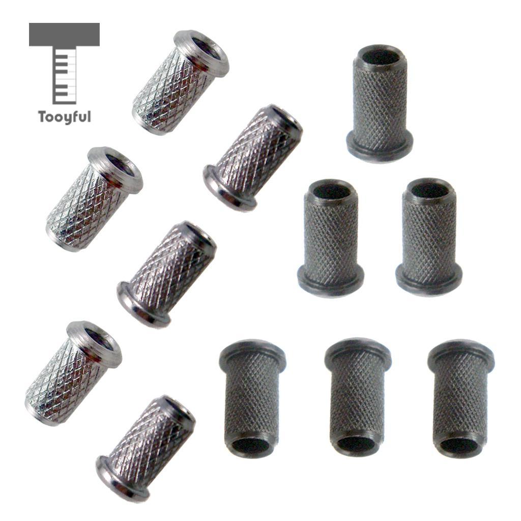 Tooyful 6pcs/set Guitar String Thru Body Ferrules Bushing Set for Electric Guitar Parts Accessories