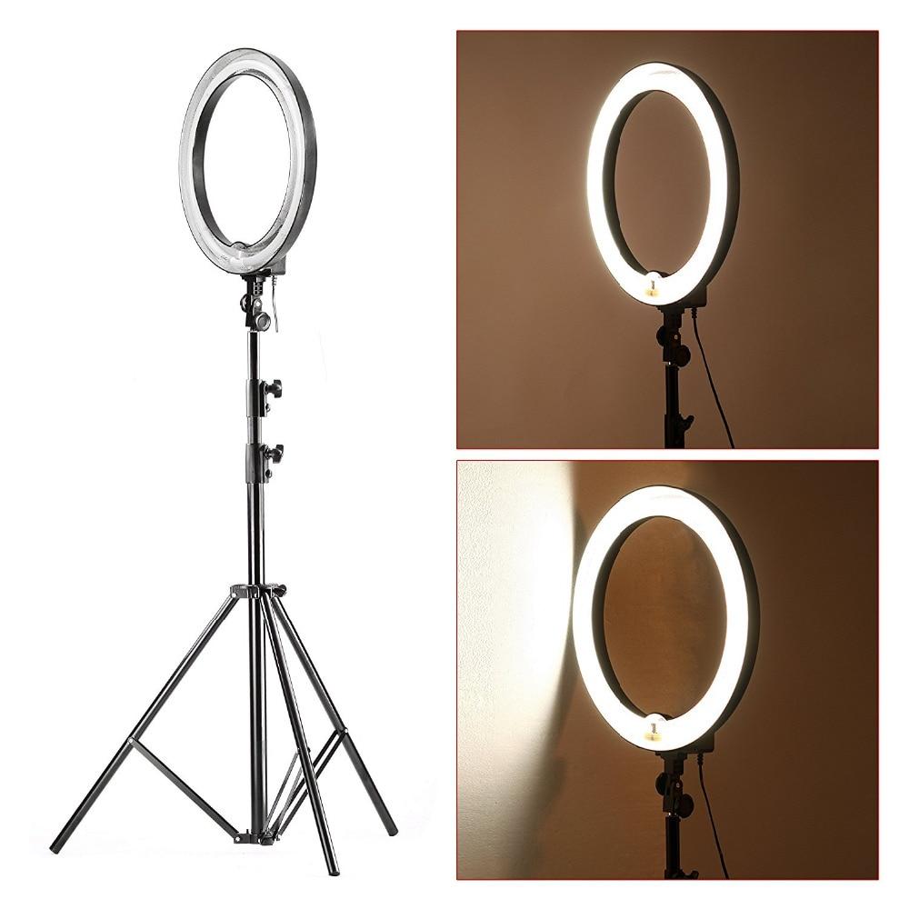 Neewer Flash light kit Fluorescent adjustable:  600W / 5500K Ring Light Selfie +260cm aluminum resistance light stand