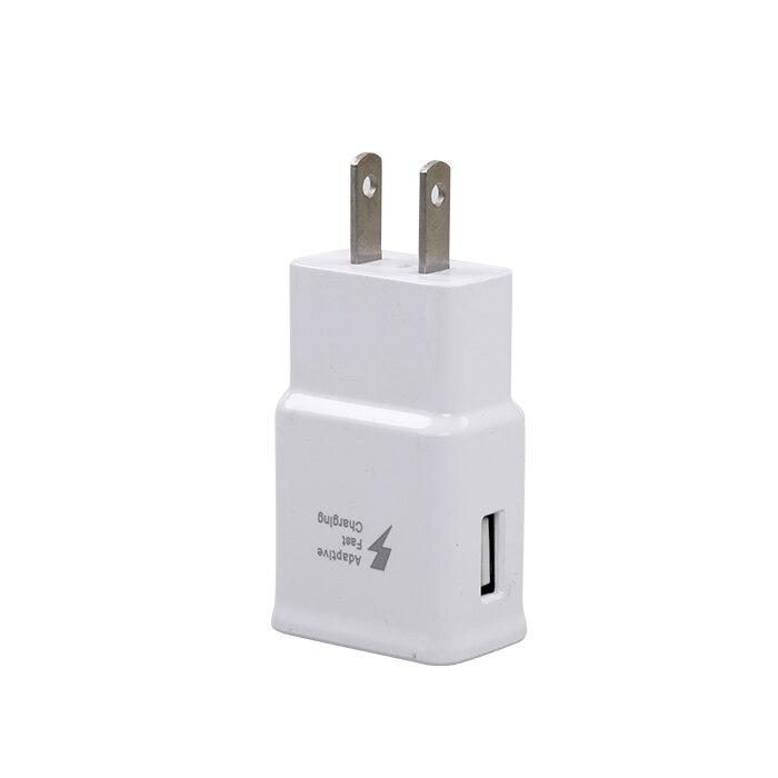 DC 9 V 1.67A o 5 V 2A salida un puerto USB UE EE. UU. enchufe rápido adaptador de corriente utilizado para Samsung S6 Nota 4 teléfono móvil Tablet PC