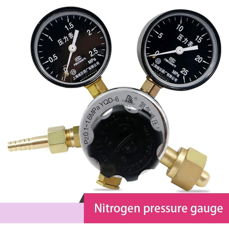 مقياس ضغط صمام التحكم في النيتروجين