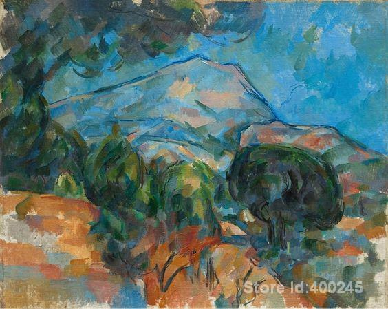 Pintura de paisaje Monte Sainte victour Paul cezana obras de arte pintadas a mano de alta calidad