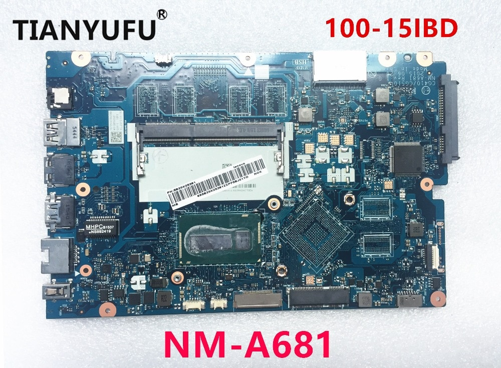 Placa base para ordenador portátil Lenovo Ideapad 100-15IBD I5-5200U 5B20K25458 CG410/CG510 NM-A681 full tesed DDR3