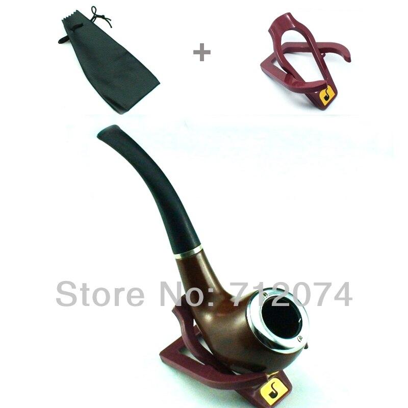 Elegante pipa de fumar de tabaco para hombre Durable de la vendimia con el soporte y la Bolsa de la Pipa para fumar cigarros del cigarro envío gratis N3