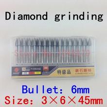 30 / box,Diamond grinding, grinding needles, grinding rods, ground rods. Bullet: 3*6*45mm