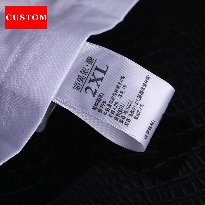 factory customized made garment washing label ribbon clothing printed private label branding custom clothing labels