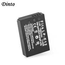 Dinto 1pc 1200mAh LP-E12 LPE12 LP E12 Rechargeable Li-ion Camera Battery Pack for Canon EOS 100D Kiss X7 Rebel SL1 EOS M10