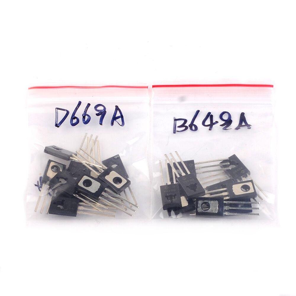 10Pair 2SB649AC 2SD669AC TO-126 2SB649 2SD669 (10pcs B649+10pcs D669 )PNP NPN Epitaxial Planar Transistors