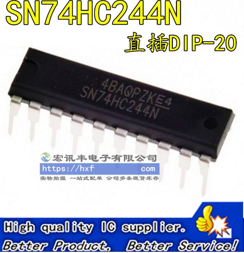 50 unids/lote SN74HC244N HD74HC244P 74HC244 DIP-20 circuito lógico-búfer/controlador de línea