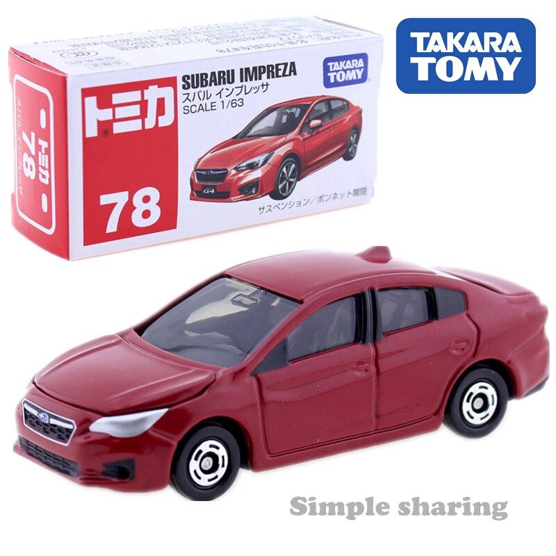 Takara TOMY TOMICA n. ° 78 SUBARU IMPREZA model kit 163 coche miniatura de juguete fundido a presión juguetes mágicos divertidos para niños