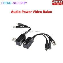 Balun vidéo RJ45 10 pièces/lot   Paire tordue, Solution de caméra CCTV, Transmission Audio vidéo et alimentation sur câble CAT5/5E/6