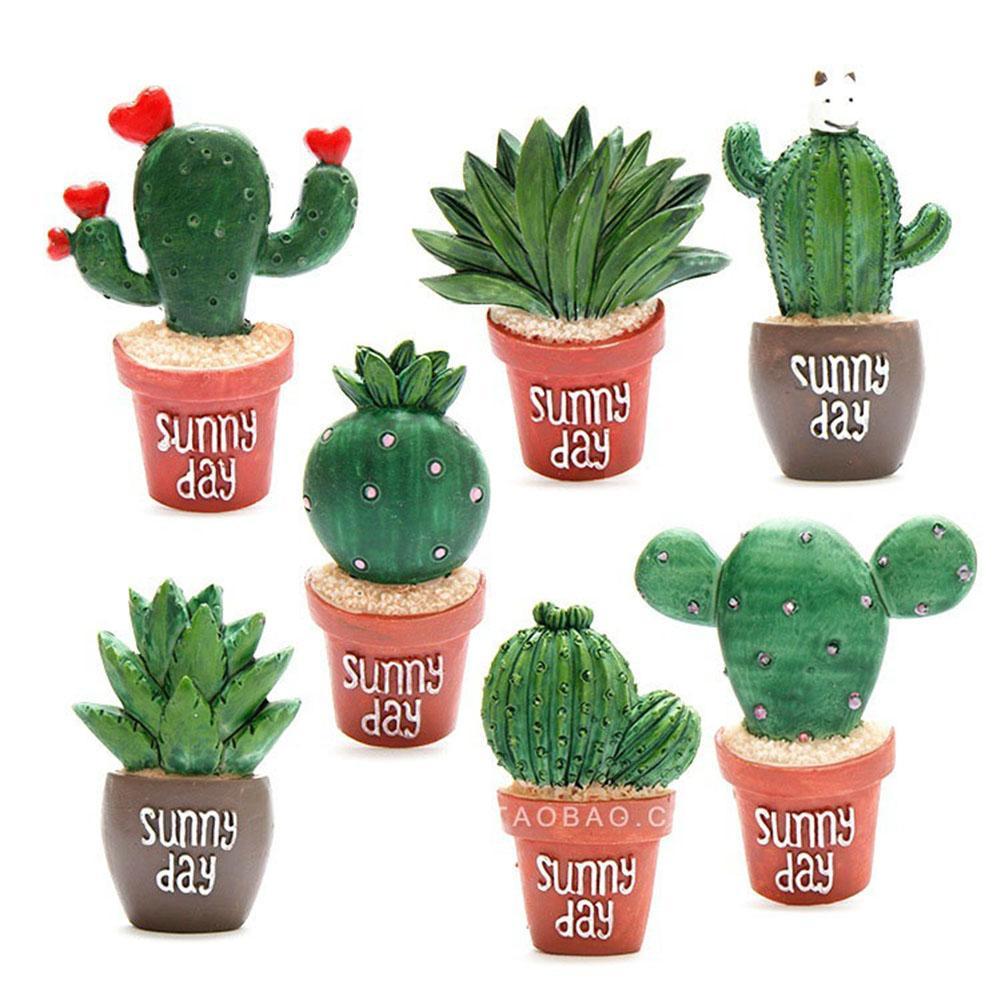 Adhesivo para nevera, bonito Cactus, plantas suculentas, decoración para nevera, adhesivo magnético para nevera