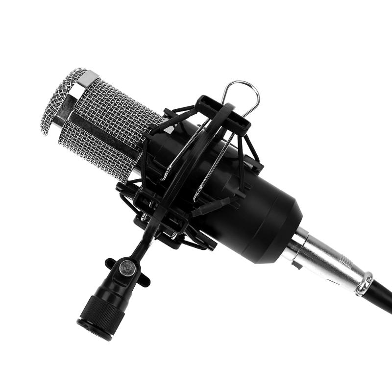 Universal Mic Microphone Holder Stand Shock Mount Clip Holder Recording Bracket for 43-55mm Large Diaphragm Microphone Black