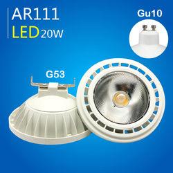 AR111 Led-strahler Licht Dimmbare Lampe 12 W 20 W G53/GU10 Birne COB ES111 LED AC110V 220 V warmweiß Kaltweiß