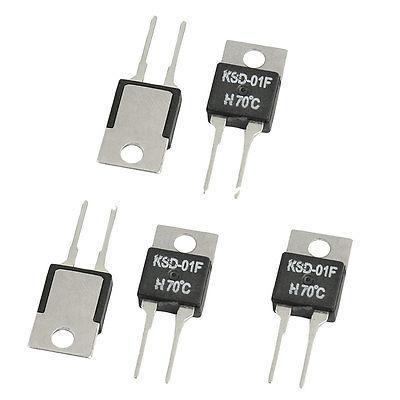 5 pcs KSD-01F 100C-130C NC Normal Fechado 105/110/115/120/125C Celsius A-220 interruptor de temperatura Controllor Termostato 250 V