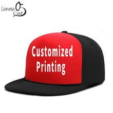 Lanmaocat-casquette Bboy avec impression personnalisée   Casquette Hip Hop, Logo personnalisé, casquette pour hommes et femmes, chapeau Hip Hop Cool et uni, livraison gratuite
