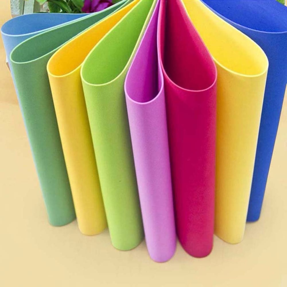10sheets/lot 1mm Thick EVA Foam Material Paper DIY Handmade Sponge Scrapbooking Craft For Flower Background Gift Cardboard Decor