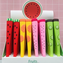 1PC Cute Fresh Fruits Watermelon Pitaya Kiwi Gel Pen Rollerball Pen School Office Supply Student Stationery 0.38mm Blue Ink