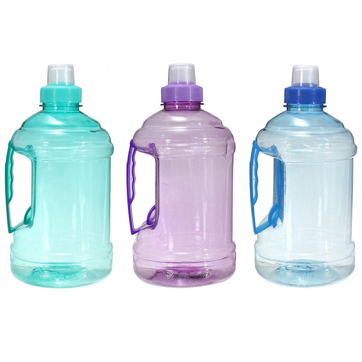 Botella de agua grande de plástico para bebidas 1L/2L para deportes, Picnic, bicicleta, libre de BPA