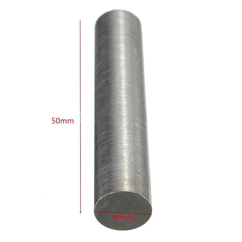 Barra redonda de Metal de tungsteno de alta pureza de 10mm x 50mm Mayitr para herramientas eléctricas 1 ud.