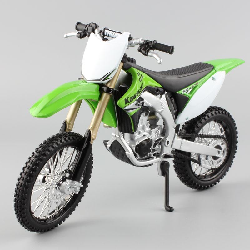 Maisto KAWASAKI KX450F dirt motocross Enduro bike escala 1/12, motocicletas, juguetes diecast, carreras en miniatura, AMA Supercross GP
