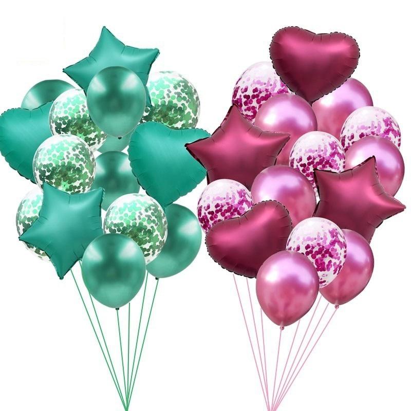 14 Uds. Globos de champán dorados de 12/18 pulgadas, decoraciones para fiesta de cumpleaños, globos de helio para niños, suministros para fiestas de bodas