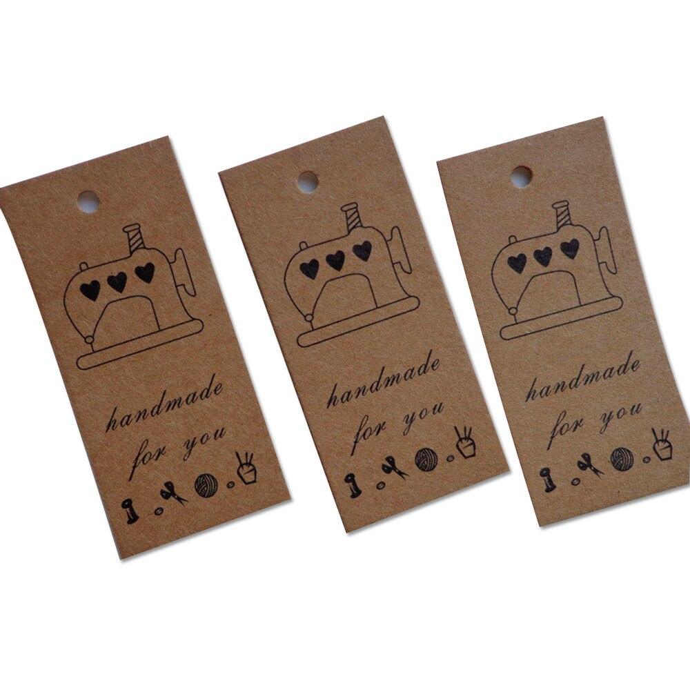Máquina de coser Retro hecha a mano caja de regalo de colgante regalo para hornear etiqueta decorativa tarjeta