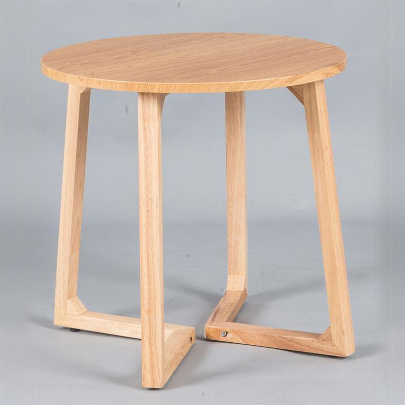 Кофейный столик из массива дерева креативный боковой обеденный стол для