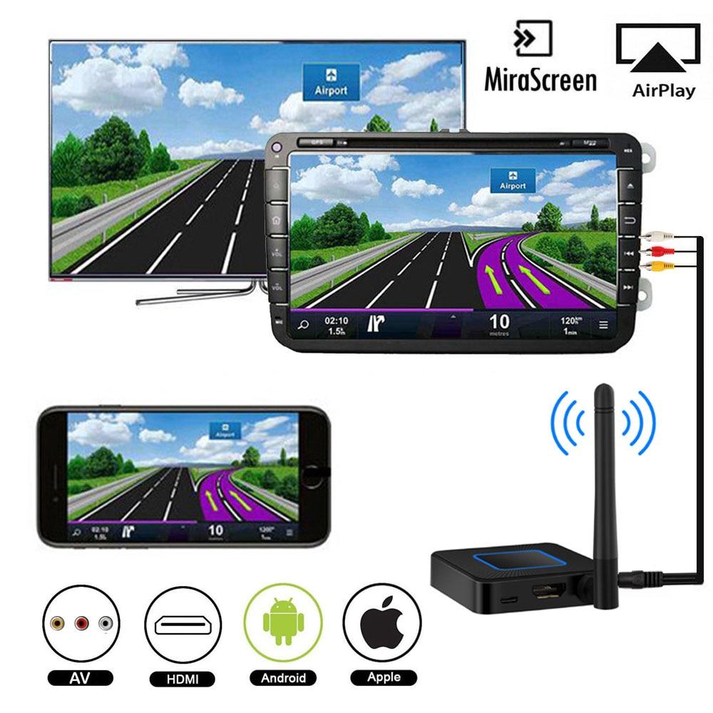 Inalámbrico HDMI AV reflejo de pantalla mirascreen Auto Miracast tv stick Dongle 1080 P Wifi antena Media streamer pantalla AirPlay