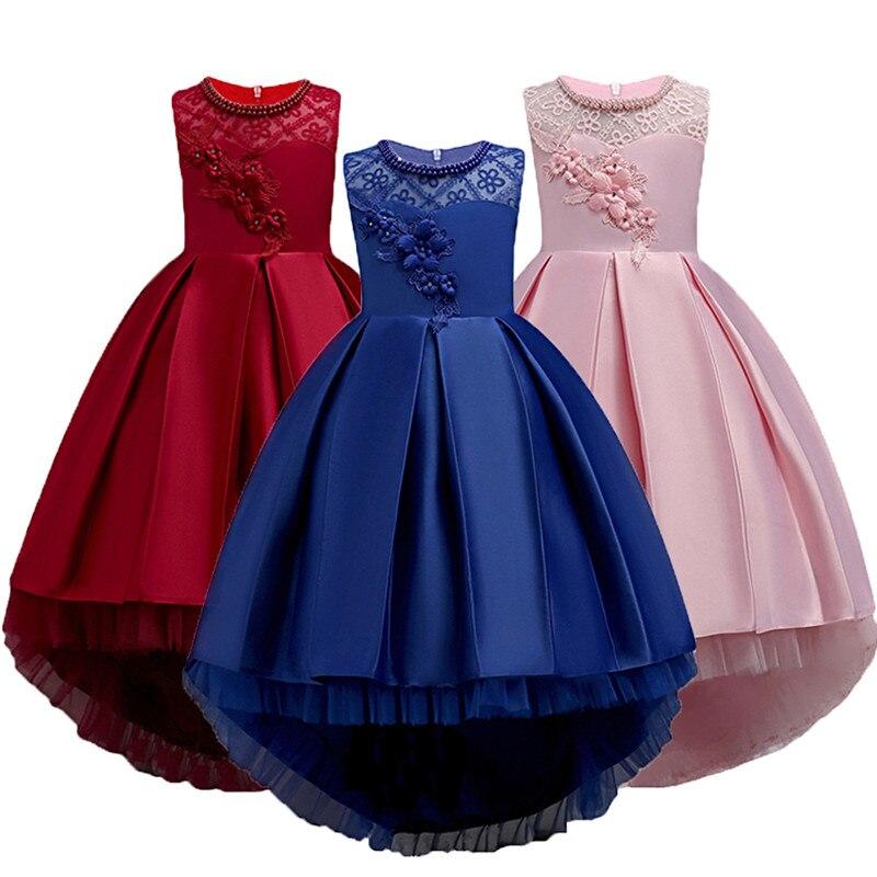 Vestido de Navidad blanco para chico y chica, vestido de flores para boda, vestido de princesa elegante para fiesta, vestido Formal de boda para dama de honor