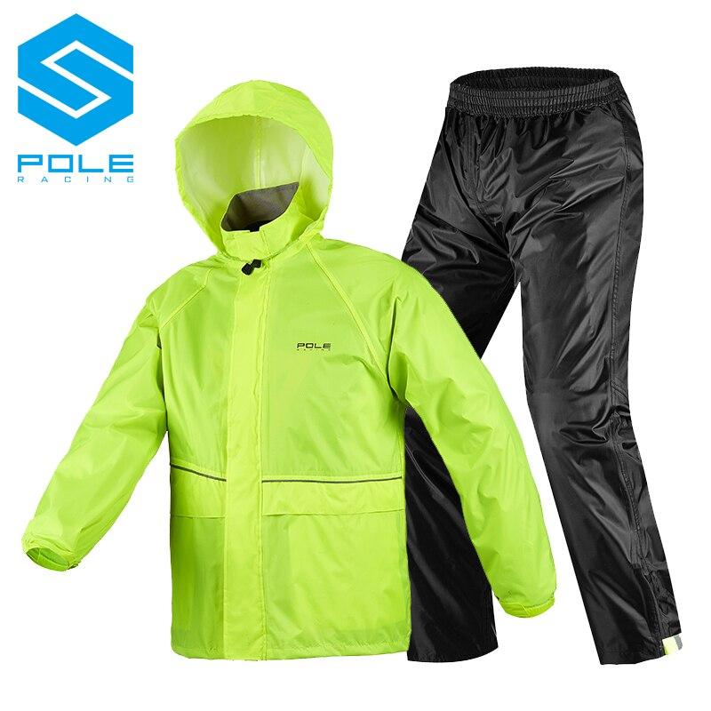 Impermeable de motocicleta para hombre y mujer, impermeable para deportes al aire libre, pesca, impermeable de fisión, traje para moto, impermeable y pantalones