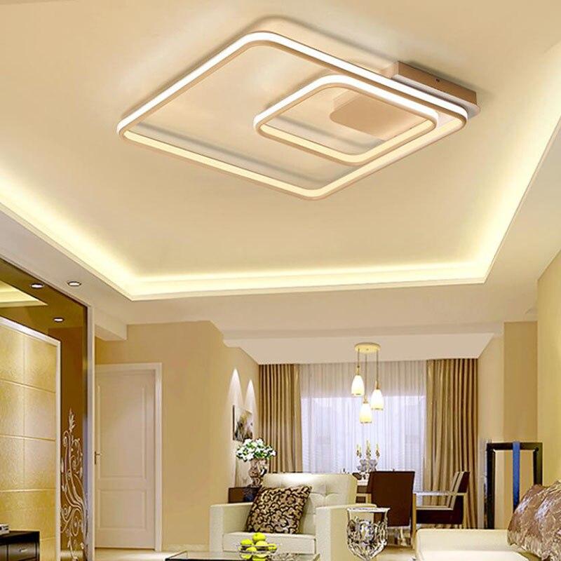 Lámparas de techo cuadradas de doble brillo modernas para sala de estar dormitorio lámparas de techo accesorios de lámpara de techo