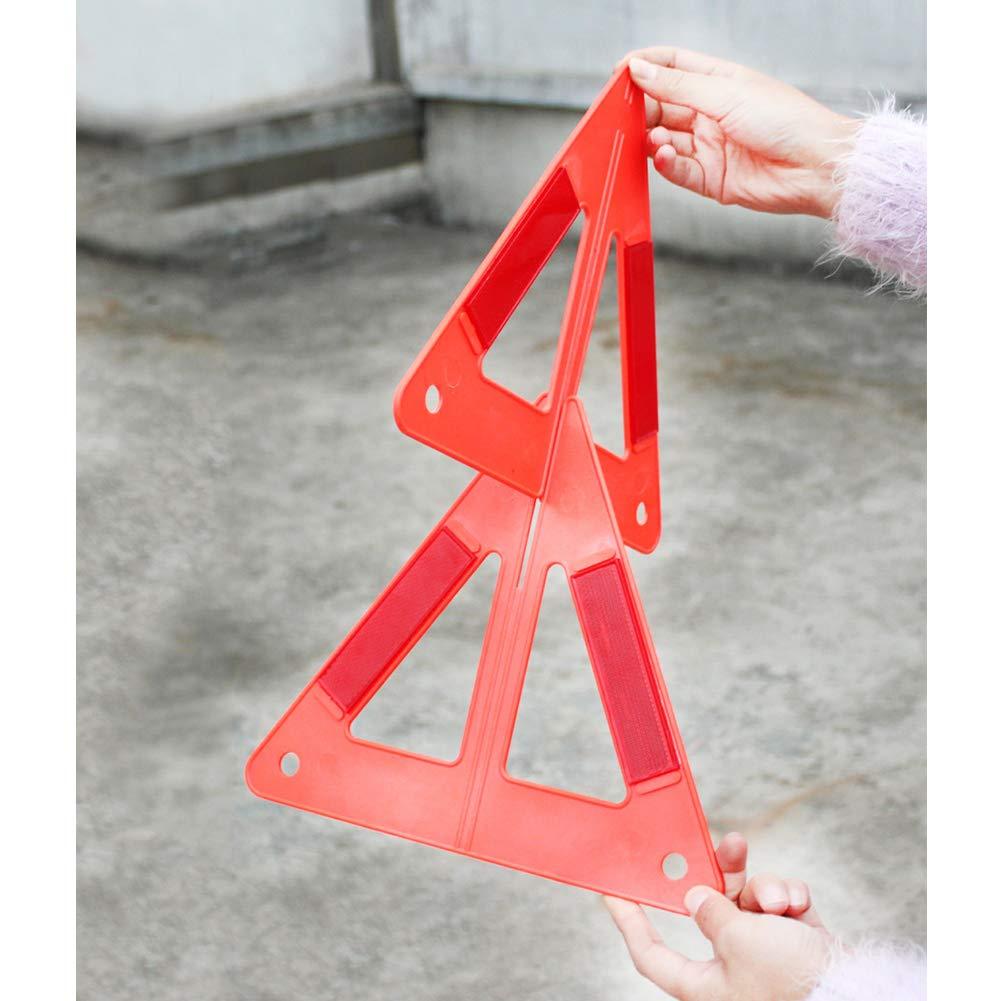 1 Set Auto Car Warning Triangular Roadway Safety Emergency Road Parking Reflective Sign NJ88