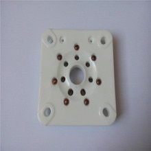 2 pçs cerâmica tubo soquete GZC7-A-G tablet 7 pinos pé dourado para 813 FU-13 tubo amplificador