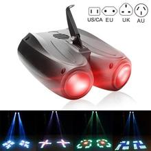 128 LEDs RGBW lámpara de proyector dirigible de doble cabeza Luz de efecto de escenario TN99