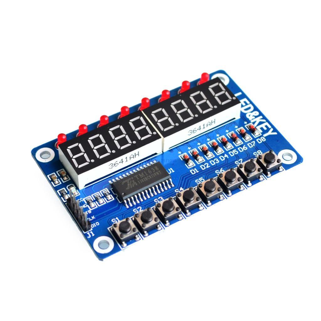 Sleutel Display Forarduino Nieuwe 8-Bit Digitale Led Buis 8-Bit TM1638 Module