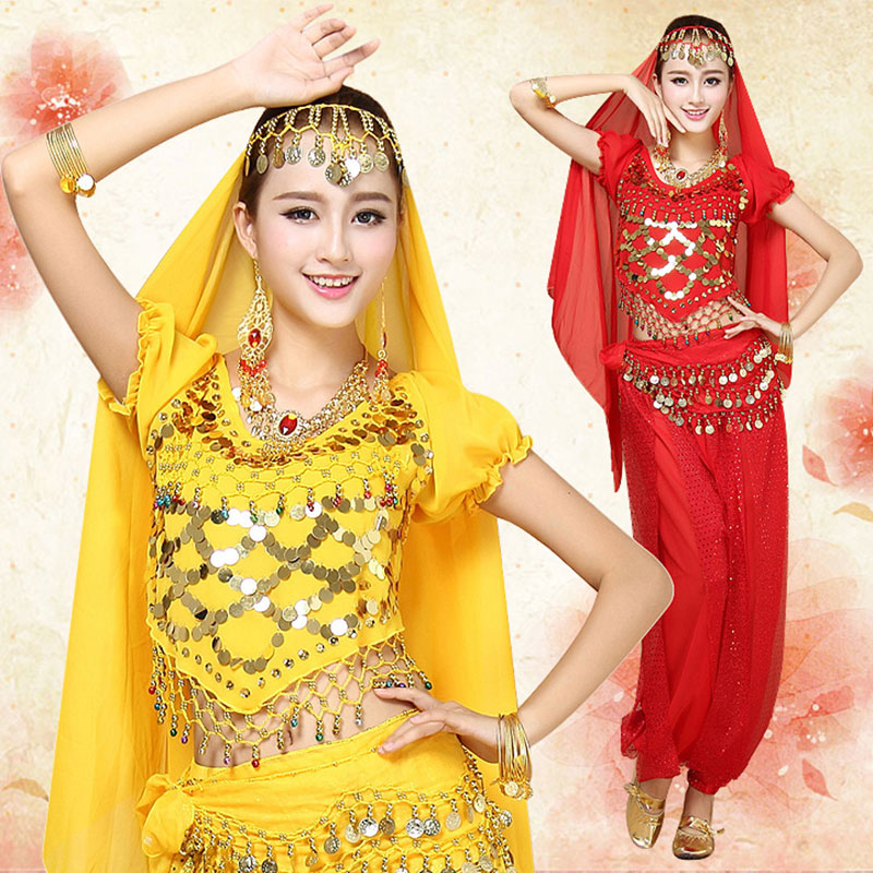 Bollywood Dance Costumes Indian Belly Set For Women Chiffon Orientale Costume Woman