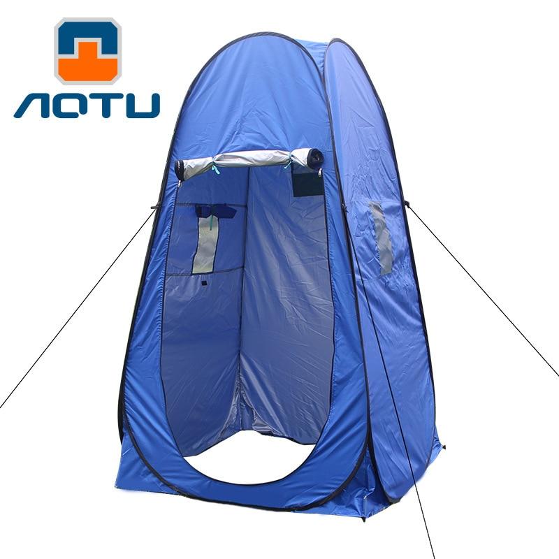 خيمة مموهة مع وظيفة الأشعة فوق البنفسجية في الهواء الطلق ، ملحق محمول مع دش خاص ، مرحاض تخييم منبثق ، خيمة تصوير ، أخضر وأزرق