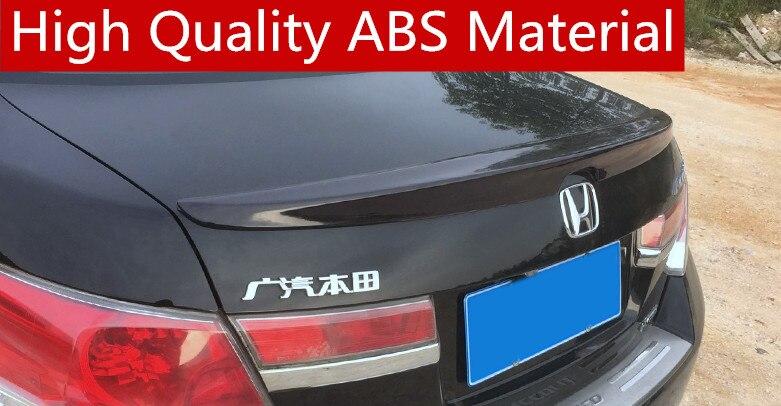 For  Honda Accord Spoiler High Quality ABS Material Car Rear Wing Primer Color Rear Spoiler Special spoiler 2007-2012