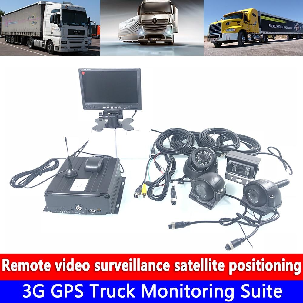 Coaxial HD 4 canales de monitoreo 256G Sistema de Monitoreo de tarjetas SD 3G GPS camión kit de monitoreo carretilla elevadora/pasajero coche/taxi