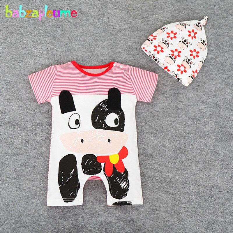 2 предмета, 0-18 месяцев, летняя одежда для новорожденных, Комбинезоны для маленьких мальчиков и девочек, милый комбинезон с рисунком животных...