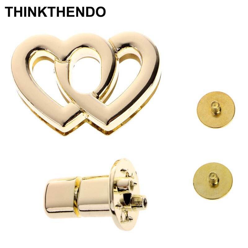 Metal Heart Clasp Buckles Turn Lock Twist Locks For Handbag Bag Purse Craft DIY