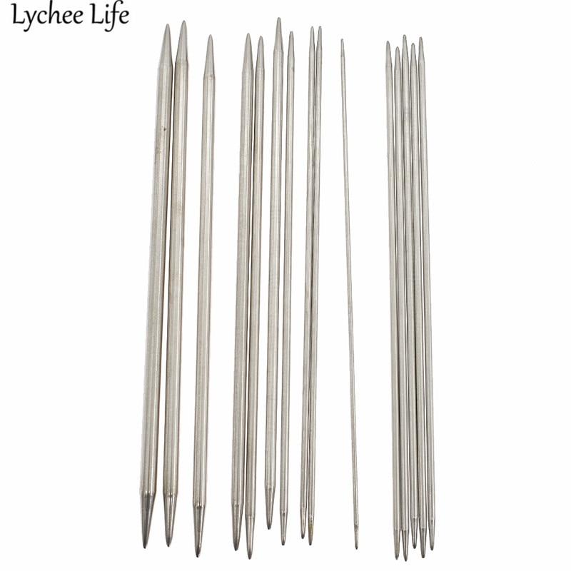 Lychee Life agujas de tejer de doble punta 55 Uds aguja de acero de alta calidad DIY accesorios para ropa de costura hecha a mano