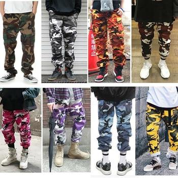 Männer 7 Farbe High Street Casual Taschen Hosen Camouflage Cargo Pants Baggy Taktische Hosen Baumwolle Mode Jogginghose