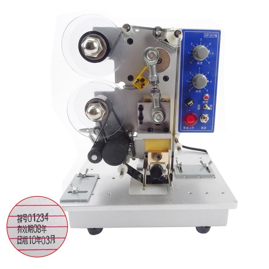 HP-241B السعر المنخفض أفضل بيع آلة الشريط الكهربائي ماكينة ترميز الدفعات آلة طباعة 220 فولت 1 قطعة