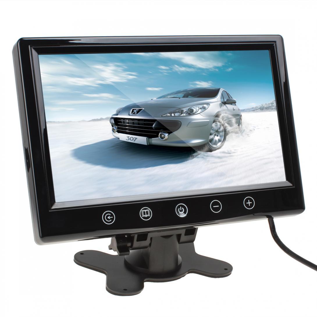 9 zoll 800x480 Hohe Auflösung Auto Monitor 12V 6W TFT LCD Farbe Screen Auto Rückspiegel monitore Mit 2 Video Eingang