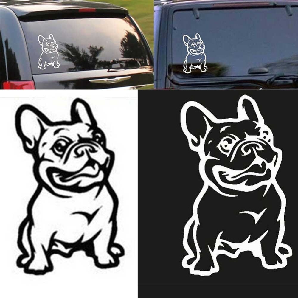 Bostar novo forte adesivo 3d adesivos francês bulldog cão carro adesivo de vinil carros decalque personalizado janela porta adesivo de parede #279802