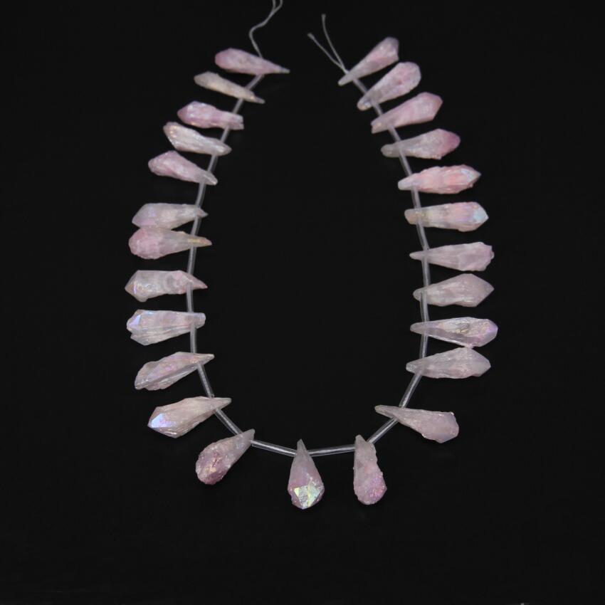 Рождественский розовый кластер, свободные шарики из титана с кристаллами в форме ангела, с кристаллами