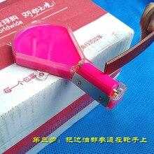 DIY leather craft edge oil treatment tool  wallet edge painting box