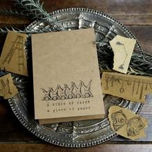 Sceau partenaire Scrapbooking 50 pièces   Papier artisanal fin, en papier Kraft, pour Journal agenda, Scrapbooking, décoratif, pour travaux pratiques, album Photo