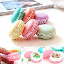 Livraison gratuite 5 pcs/Lot mignon bonbons couleur Macaron boîte de rangement bijoux emballage affichage pilule case organisateur maison décoration cadeau